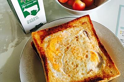 吐司系列一培根芝士鸡蛋吐司