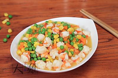 营养清爽菜:五彩时蔬炒虾仁