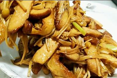 金針菇炒豆干
