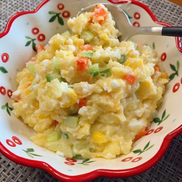 减脂餐——土豆泥鸡蛋沙拉的做法