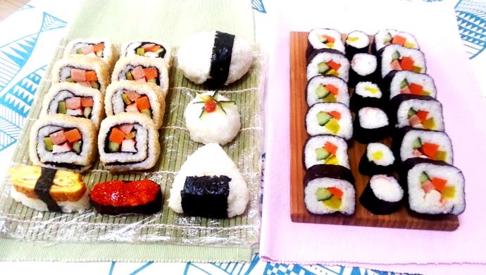 基础卷寿司(含寿司醋),反卷,握寿司,军舰寿司