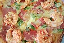大虾培根披萨的做法