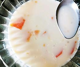 木瓜奶粉粥的做法
