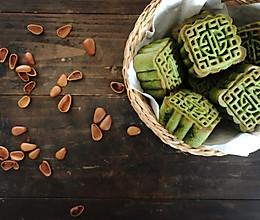 广式抹茶红豆月饼的做法