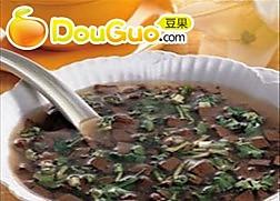 木耳猪血汤的做法