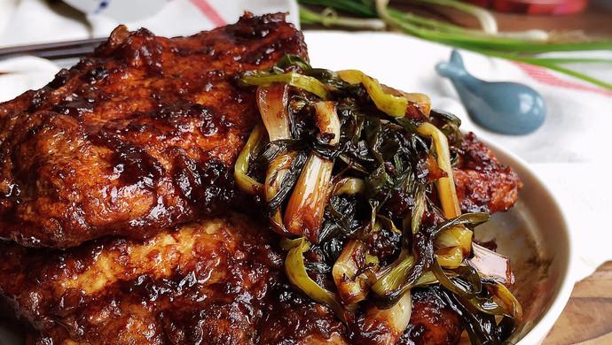 #父亲节,给老爸做道菜#葱烤大排 经典本帮家常菜