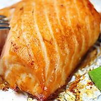原味香烤三文鱼#美的烤箱菜谱#的做法图解4