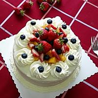 水果奶油裱花蛋糕(八寸超详细版)#豆果5周年#