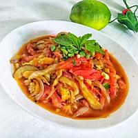 #花10分钟,做一道菜!#西红柿素三鲜的做法图解10