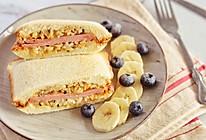 #全电厨王料理挑战赛热力开战!#金枪鱼海苔拌饭火腿三明治的做法