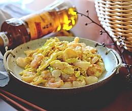 滑蛋虾仁#金龙鱼外婆乡小榨菜籽油 我要上春碗#的做法