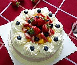 水果奶油裱花蛋糕(八寸超详细版)#豆果5周年#的做法