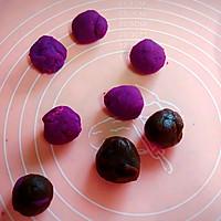 网红糕点——紫薯爆浆芝士仙豆糕#福临门面粉舌尖上的寻味之旅#的做法图解4