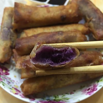 奶香紫薯春卷