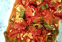 青椒西红柿炒鸡蛋的做法