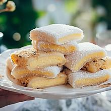 椰蓉/肉松麻薯卷蛋糕(粘韧绵软,冷藏2天也不硬)