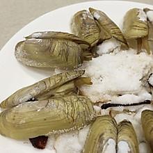盐焗蛏子王,吃吃海鲜的本味