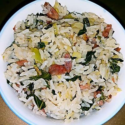 广式腊肠菜饭