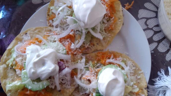 墨西哥玉米饼沙拉  taco tostadas