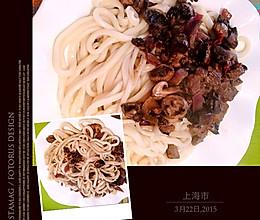 野蘑菇羊肉拌面的做法
