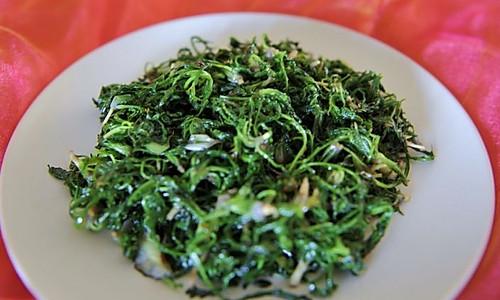 清炒荠菜的做法