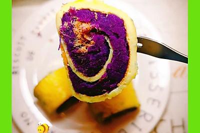 宝宝辅食食谱  紫薯蛋卷