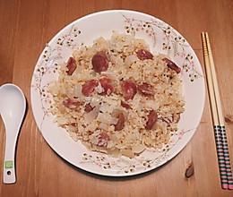 电饭煲懒人食谱:潮汕腊肠白萝卜饭的做法