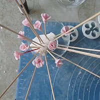 换个方式做翻糖花---翻糖蛋糕(七)---桃花盛开的做法图解27