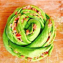 菠菜汁花卷|颜值控