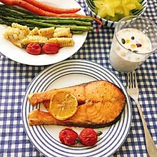 #美食视频挑战赛#柠香烤三文鱼