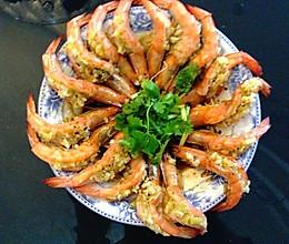 蒜蓉开边虾(酿明虾)的做法