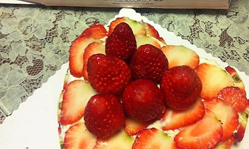 草莓心形芝士蛋糕的做法