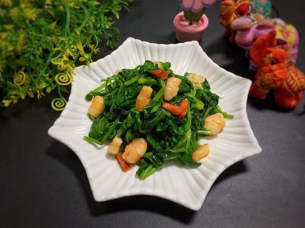 美白清淡菜心虾-桓桓爸出品#春天肉菜这样吃#的做法