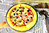 培根火腿披萨#我动了你的奶酪#的做法