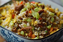 黄瓜牛肉蛋炒饭的做法