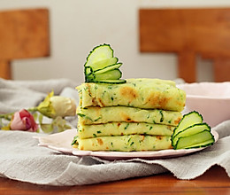 鸡蛋黄瓜煎饼的做法