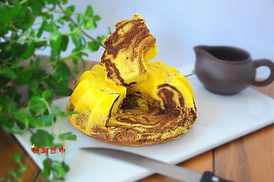 戚风咖啡大理石蛋糕#豆果5周年#