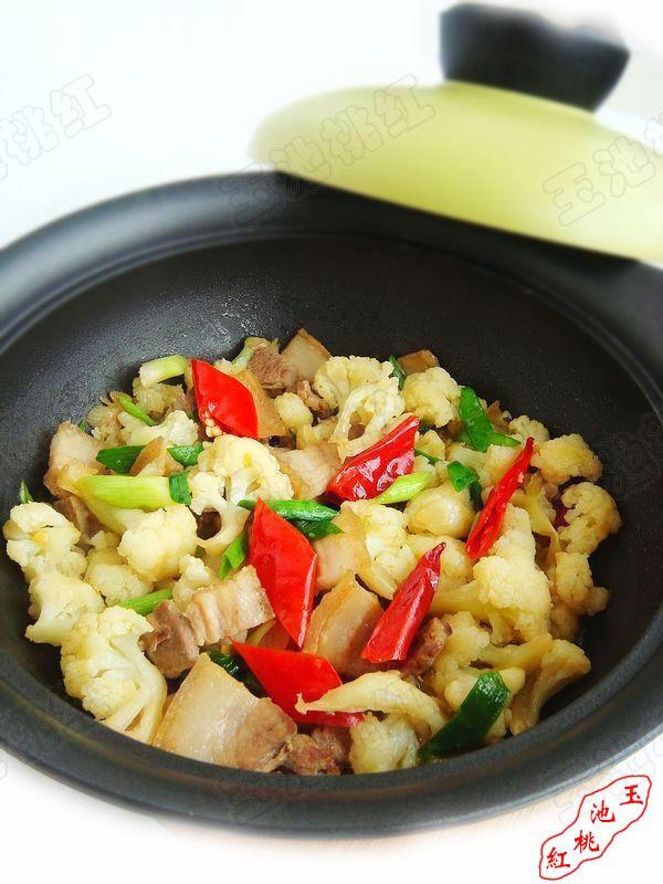 干煸菜花五花肉  的做法