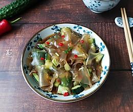 黄瓜拌粉皮-清脆爽口的做法