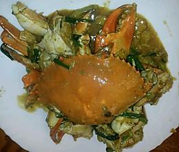 姜葱炒糕蟹的做法