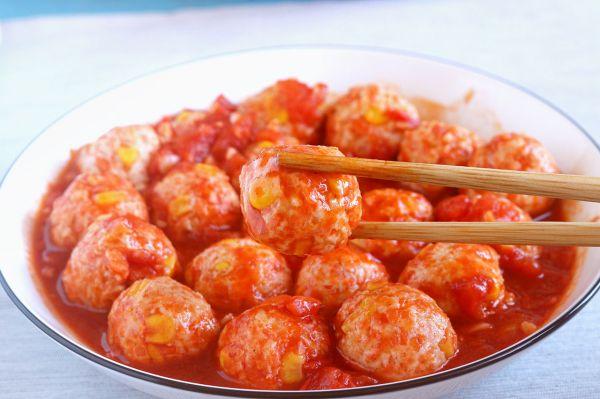 番茄鸡肉丸子│减脂小能手