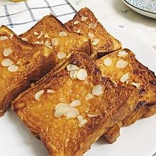 蜂蜜芝士厚多士#百吉福芝士面包#