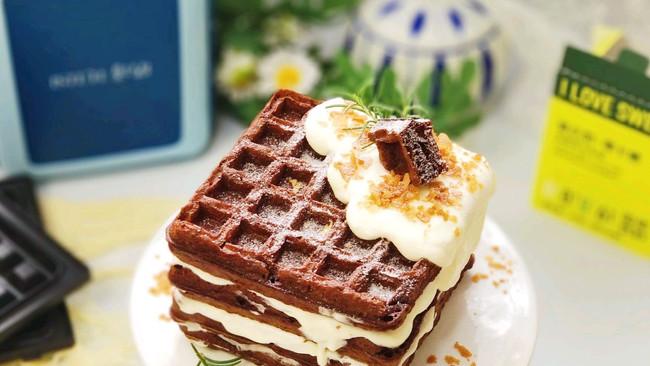 #爱乐甜夏日轻脂甜蜜#华夫饼奶油蛋糕(酵母版)的做法