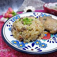 海鲜菇干肠饭