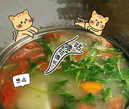 无油的蔬菜汤。的做法