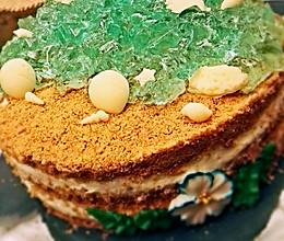 """""""面朝大海,春暖花开""""六寸海洋木糠蛋糕的做法"""