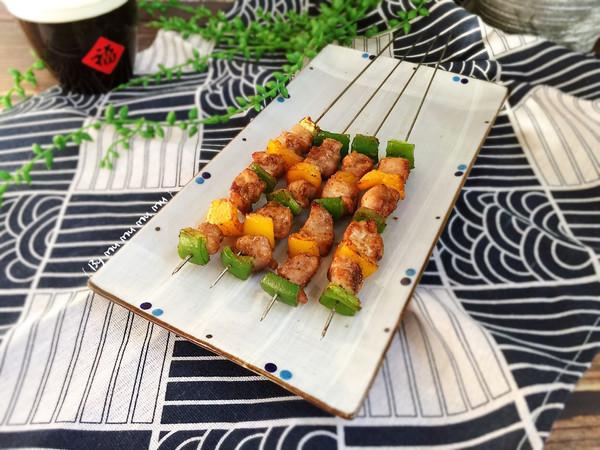 彩椒鸡肉串#春季减肥,边吃边瘦#的做法