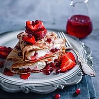 简单易做的小资甜点:草莓松饼