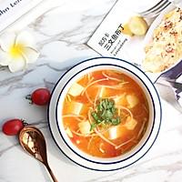 暖心暖胃【茄汁金针菇豆腐汤】的做法图解12