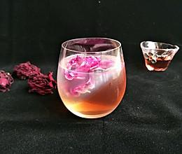 玫瑰石榴酒冻的做法